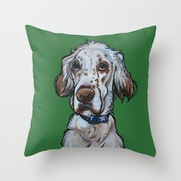 Ollie the English Setter Throw Pillow