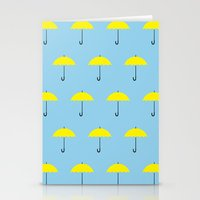 himym Stationery Cards featuring HIMYM Yellow Umbrella by tralalavelling