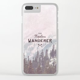 The Hopeless Wanderer Clear iPhone Case