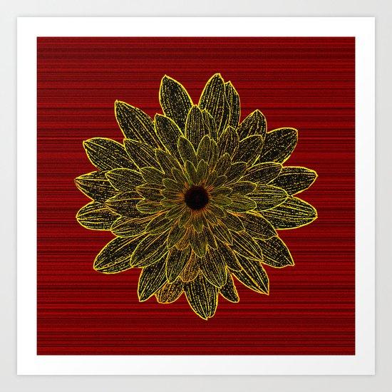 Sunflower Star Art Print