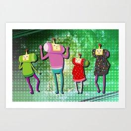 Katamari Cousins Set Art Print