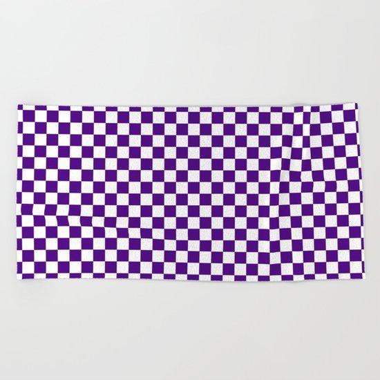 Checker (Indigo/White) Beach Towel