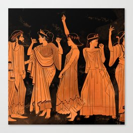 Club Life in Ancient Greece Canvas Print
