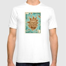 Popography: Schwifty Archipelago SMALL White Mens Fitted Tee