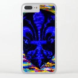 Fleur De Lis Clear iPhone Case