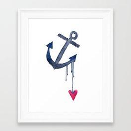 Anchored Heart Framed Art Print