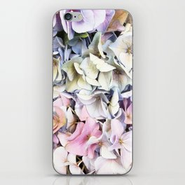Hydrangea pastel iPhone Skin