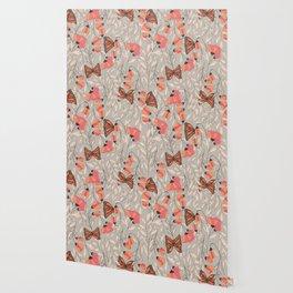 Monarch garden 001 Wallpaper