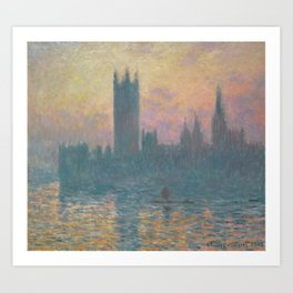The Houses of Parliament  Sunset by Claude Monet Art Print
