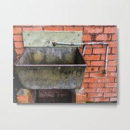 Outdoor Sink Metal Print