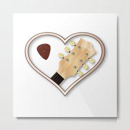 Love Guitar Metal Print
