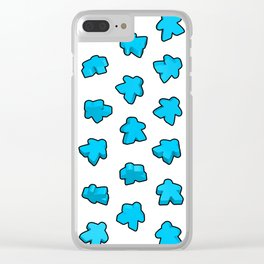 Meeple Mania Icy Blue Clear iPhone Case