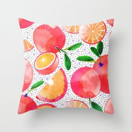 Citrus Love #digitalart #citrus Throw Pillow