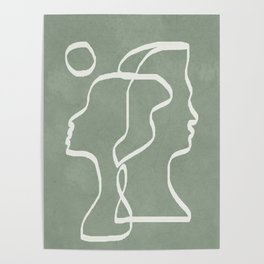 Abstract Faces Poster