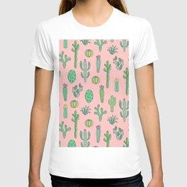 Cactus Pattern Pink T-shirt