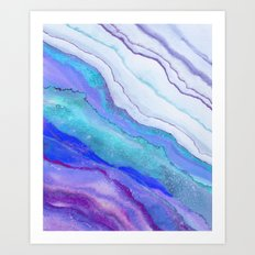 AGATE Inspired Watercolor Abstract 07 Art Print
