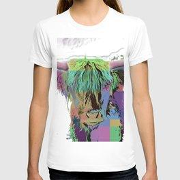 Highland Longhorn Tartan Cow T-shirt