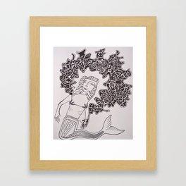 Mermaid Dreams Framed Art Print