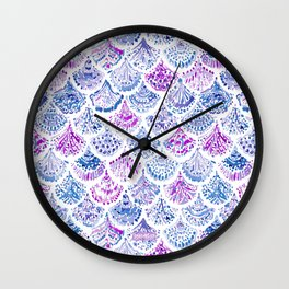 OCEAN PROTECTRESS Lavender Mermaid Scales Wall Clock