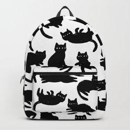Black Cat Poses Backpack