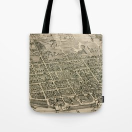 Vintage Pictorial Map of Fredericton New Brunswick (1882) Tote Bag