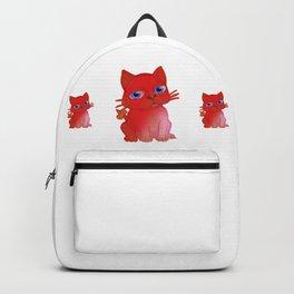 My Red Vanda Cat Pet Backpack