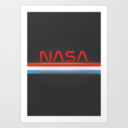 NASA Three Stripes Dark space Art Print