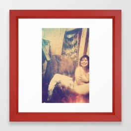 Katie Tatiana Dowell, Vintage Voyeur Mode Framed Art Print