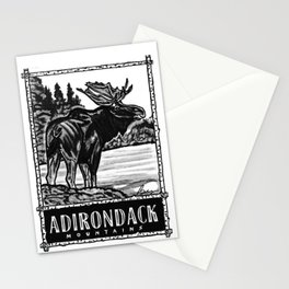 'ON THE LOOSE' Original Adirondack Decor, Moose Drawing, Mountains Wall Art Decor Stationery Cards
