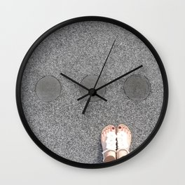 sidewalk cicrles, urban german workers art, essen Wall Clock