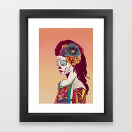 Mexican Skull Lady Framed Art Print