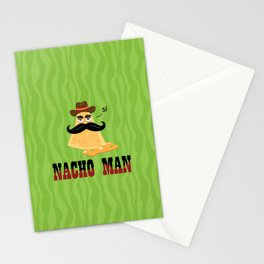 Nacho Man illustration print Stationery Cards