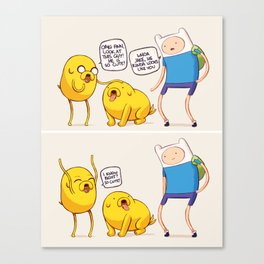 Jake the Cute Dog Canvas Print