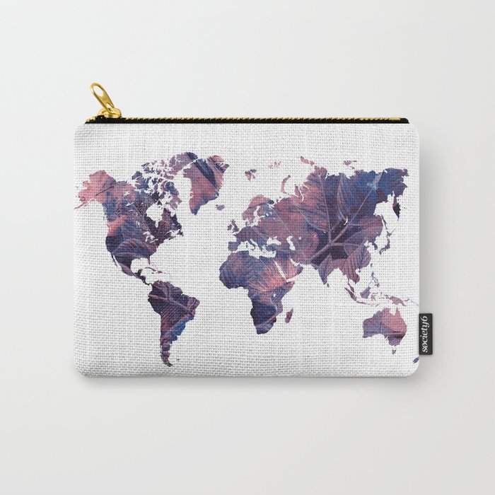 world map 76 purple Carry-All Pouch