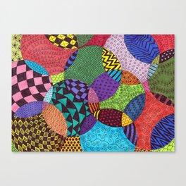 Circle of Tangles Canvas Print