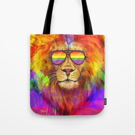 Rainbow Lion Pride Tote Bag