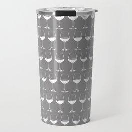 Wine Glasses on Grey Travel Mug