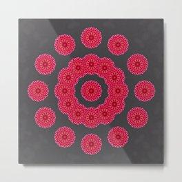 Red Circles Metal Print