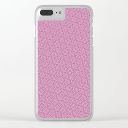 Cool patterns ~ THX 1138 Pink Clear iPhone Case