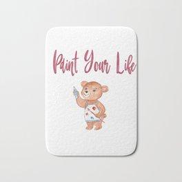 Paint Your Life Bear Artist Gifts Bath Mat