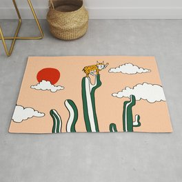 King of the Cactus Rug