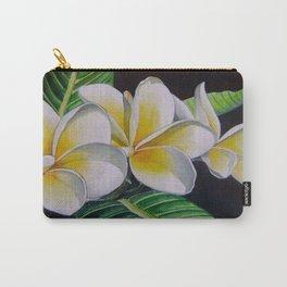 Polynesian Plumeria Carry-All Pouch
