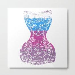 Sphynx Cat Kitty Spirit Animal Bald Haireless Gift Metal Print