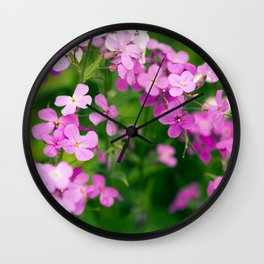Eyes like Wildflowers Wall Clock