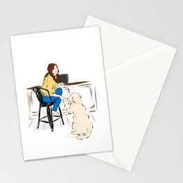 Girl with Dog Stationery Cards