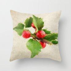 A Holly Jolly Christmas Throw Pillow