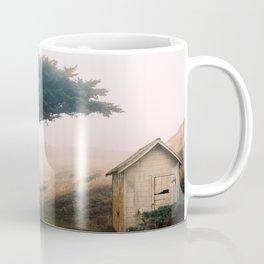 Leaning Cypress tree in Point Reyes National Seashore Coffee Mug