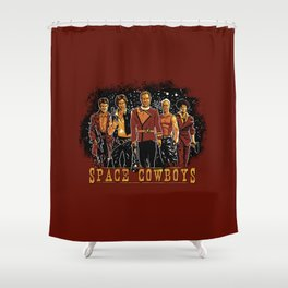 Space Cowboys Shower Curtain