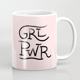 GRL PWR pink and black Coffee Mug