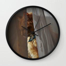 Majestic Caturday Wall Clock